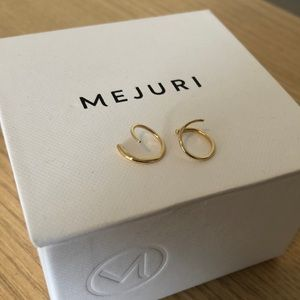 Mejuri 14K Gold Spiral Earrings EUC